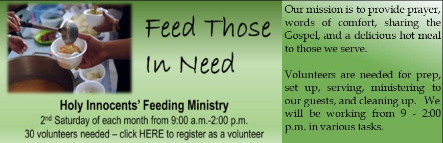 Feeding Ministry March 2020