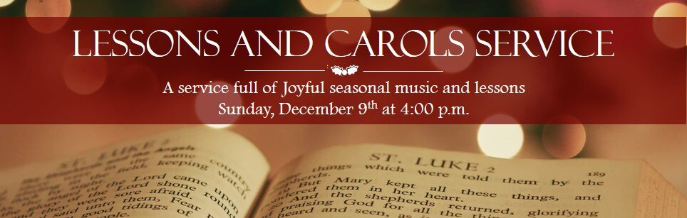 Lessons and Carols 2018 Banner