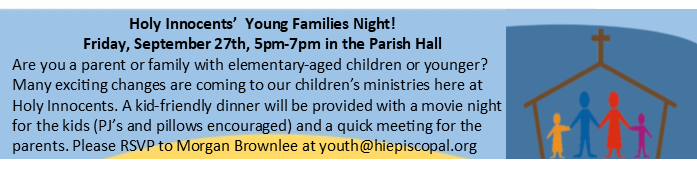 Young Family Night 9.27.19