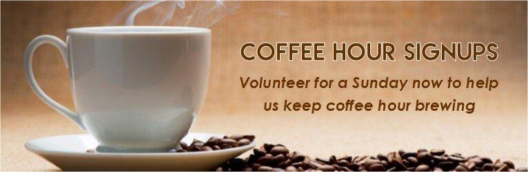 coffee hour help