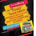 The Gathering Family Game Night September 1, 6:00 p.m. Potluck Dinner Thumbnail
