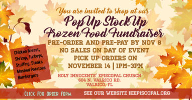 Thanksgiving Pre-order & Pre-Pay Pop Up Stock Up Frozen Food Fundraiser Featured Image