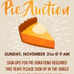 Youth Pie Auction Sunday, November 21, 9:00 a.m. It's that delicious time of year again! Thumbnail
